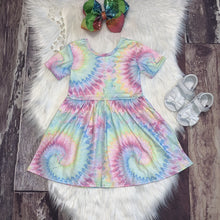 Load image into Gallery viewer, Pastel Tie Dye Dress