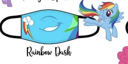 Rainbow Pony Facemask