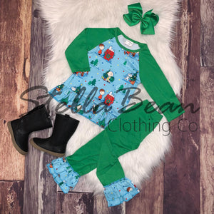 A Charlie Brown Christmas Raglan Tunic Set
