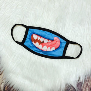 Monster Facemask-Blue Tongue