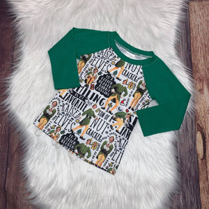 Christmas Elf Printed Raglan