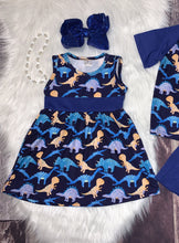 Load image into Gallery viewer, Dinosaur Printed Dress