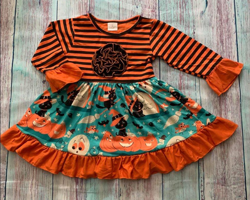 Halloween Ruffle Dress