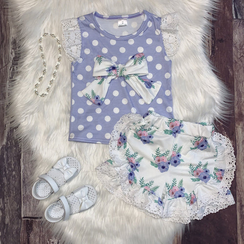 Lilac Spring Inspired Collection Rosey Top Set