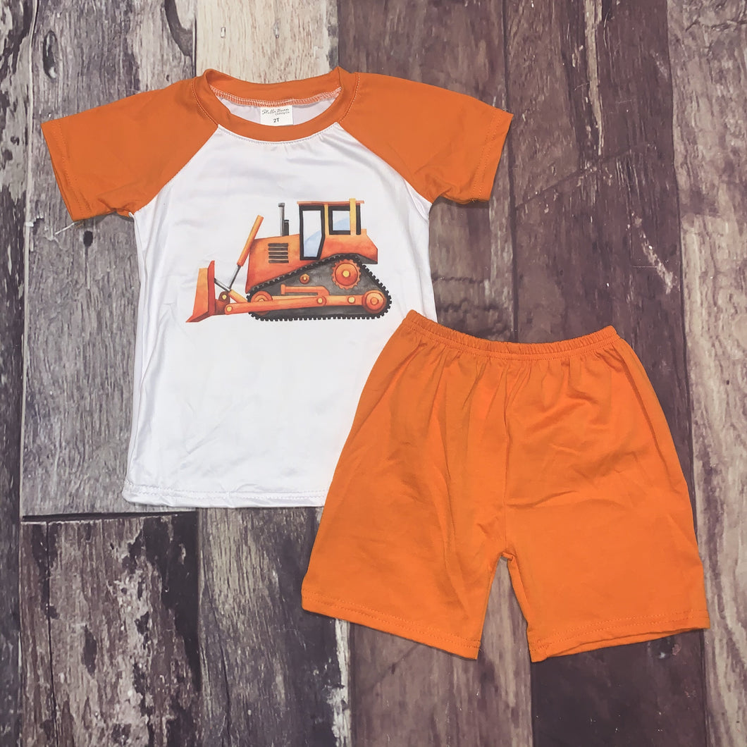 I like Big Trucks Orange Bulldozer Set