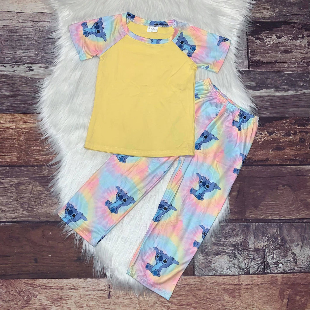 Printed Character Loungewear - Tie Dye Stitch