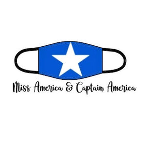 Superhero Facemask - Miss America & Captain America