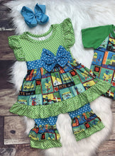 Load image into Gallery viewer, Pete The Cat Tee &  Dress Set - Ivory Blossom