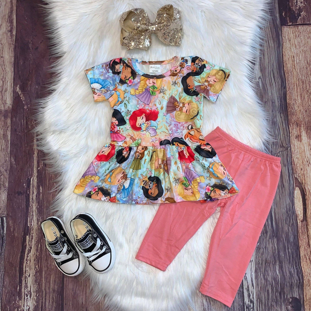 Princess & Critters Legging Set