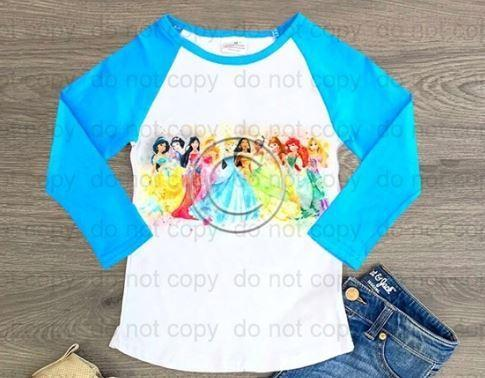 Princesses Long Sleeve Raglan