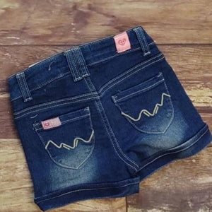 Unicorn Girl Denim Embroidered Shorts