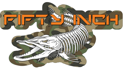 Decal - Skeleton Logo Camo- (Size -Med)