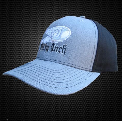Heather Grey / Black Snapback Musky Hat