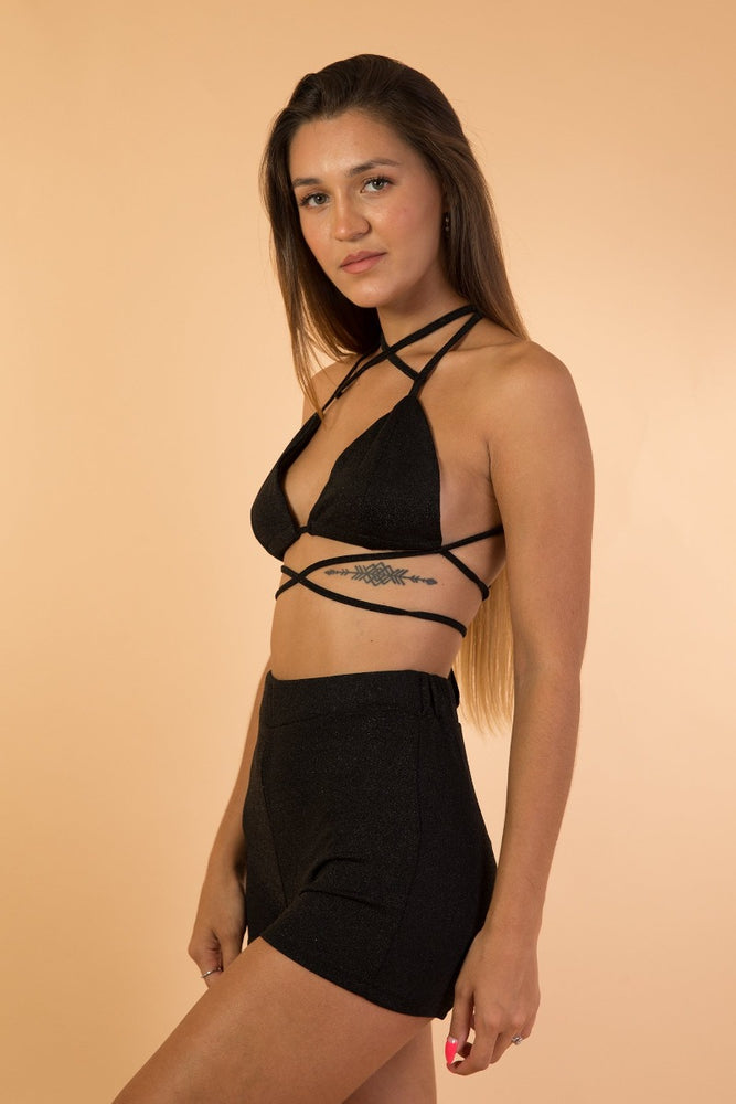 Black Two piece women set