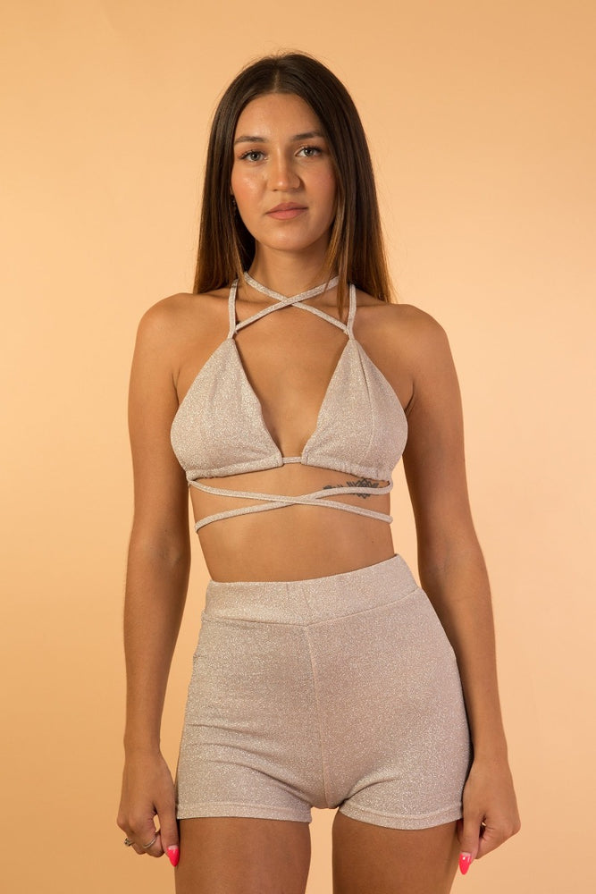 Grayish Pink Two piece set