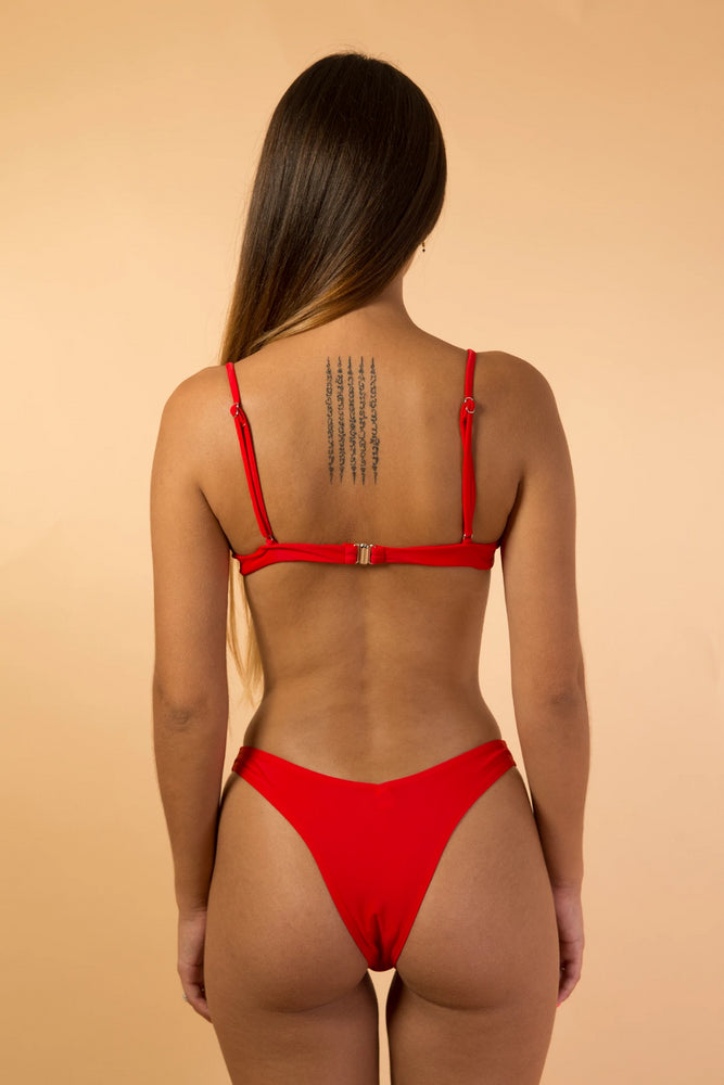 Red Under Wire Bikini Set