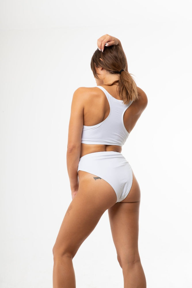 White High Cut Sporty bikini Set