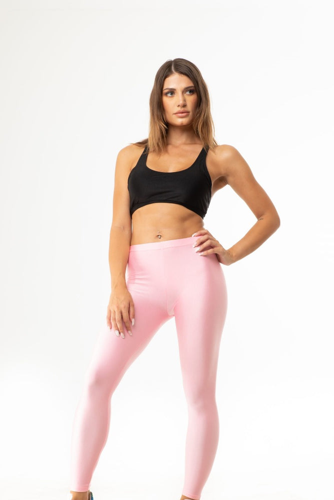 Pink Shiny Long Leggings