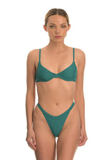 DORIS EMERALD | HIGH RISE BIKINI BOTTOM