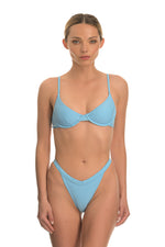 DORIS BABY BLUE | HIGH RISE BIKINI BOTTOM