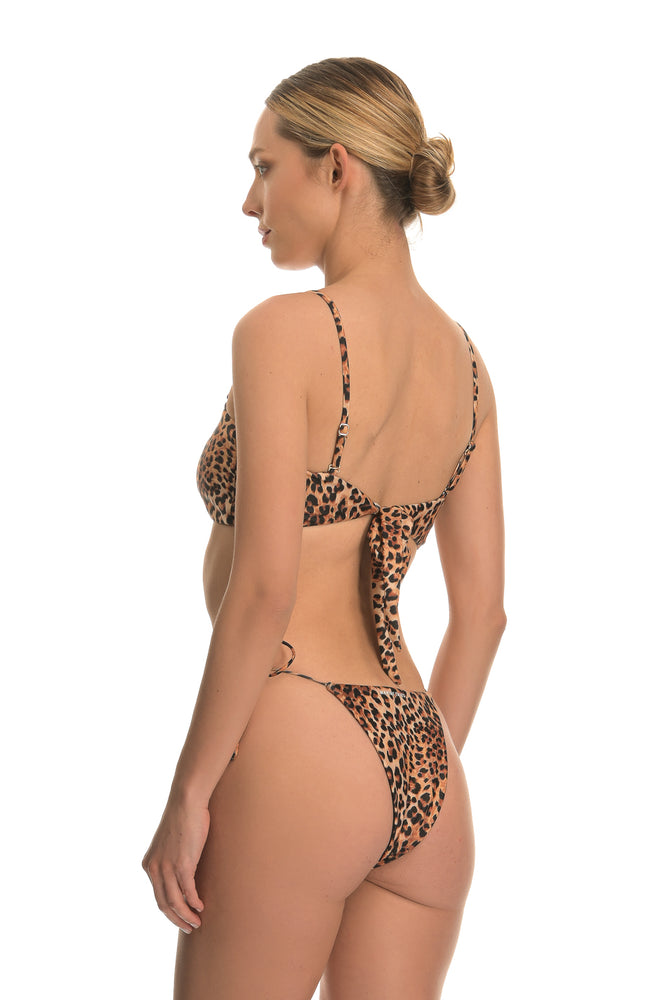 CETO LUXURY LEOPARD | TIE SIDE BIKINI BOTTOM