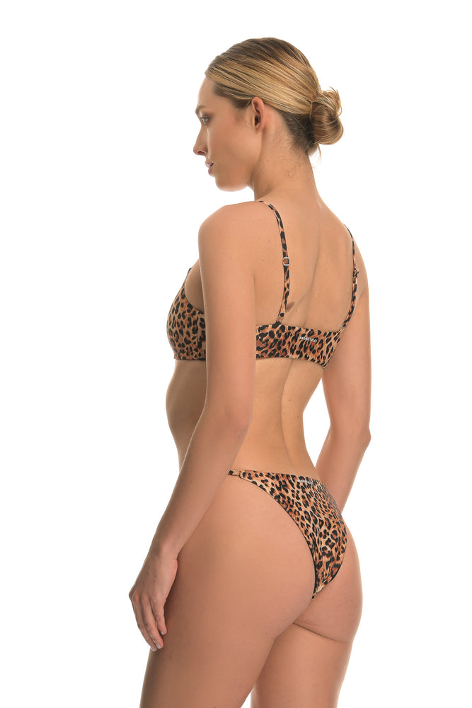 THETIS LUXURY LEOPARD | ADJUSTABLE BIKINI BOTTOM
