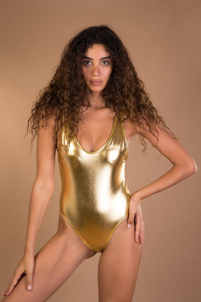 Gold Shiny One piece