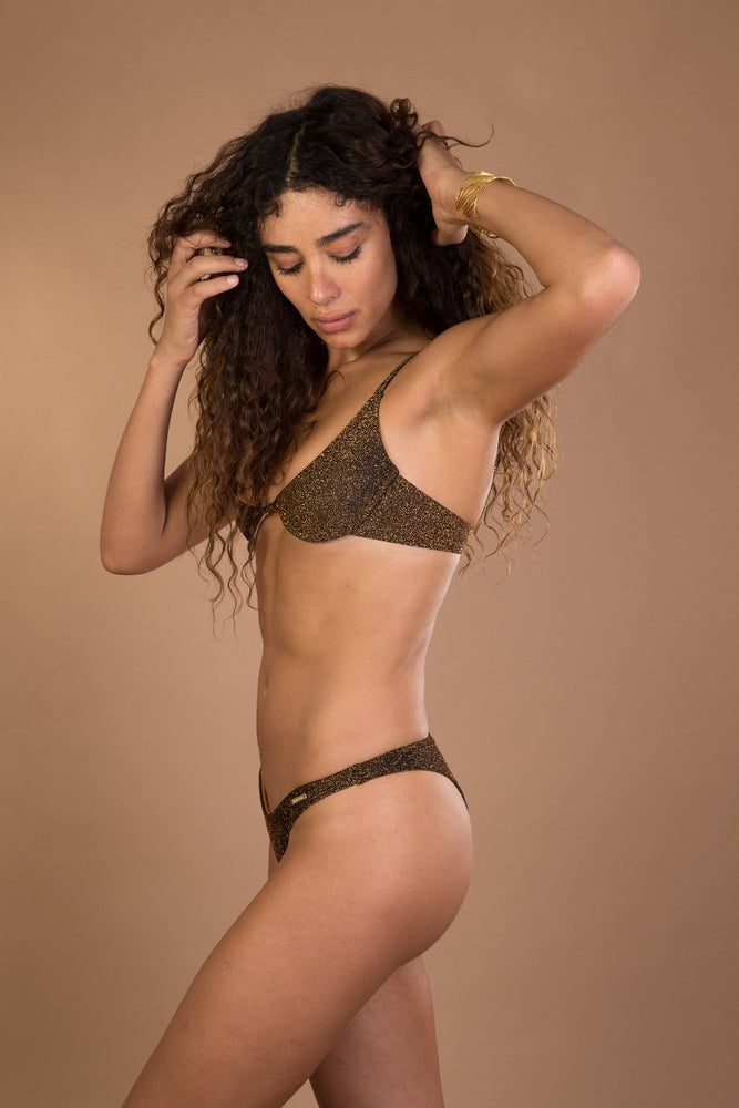 Brown Underwire Bikini Set