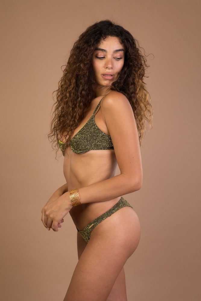 Green Underwire Bikini Set