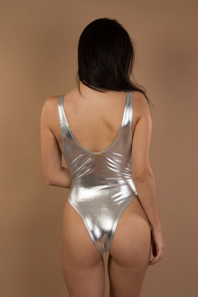 Silver Shiny One piece