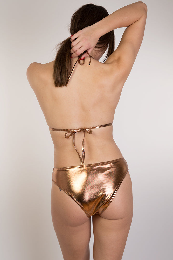 Bronze Shiny Bikini set