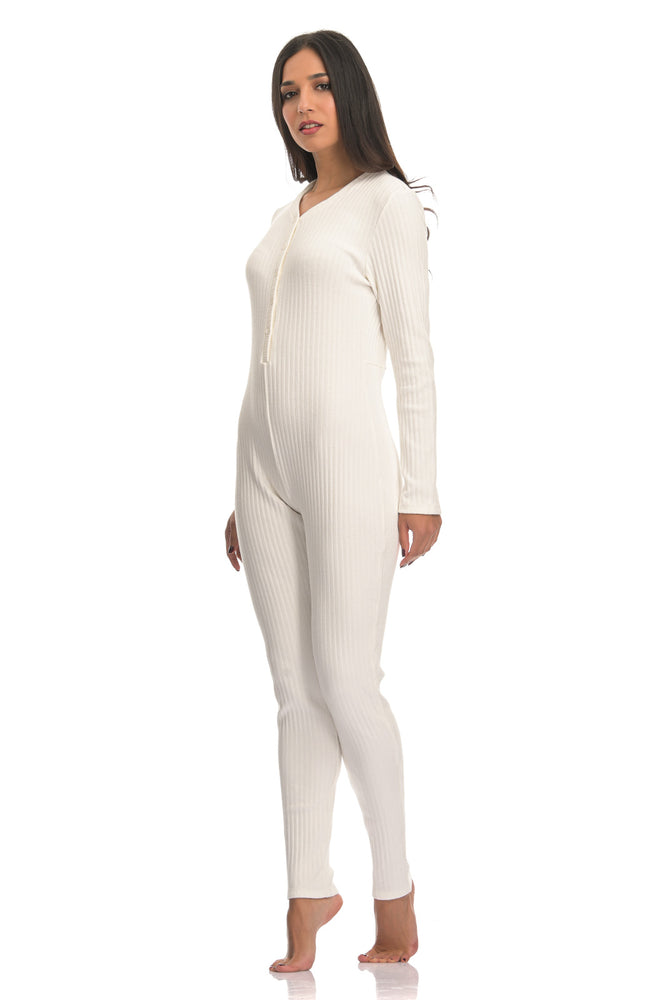 LEIA RIBBED WHITE | LONG ONESIE