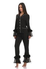 NAOMI SIMPLE BLACK | LUXURY PYJAMA SET