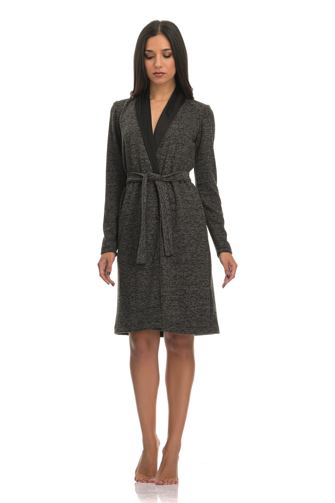 SCARLET CHARCOAL | EXCLUSIVE LOUNGE ROBE