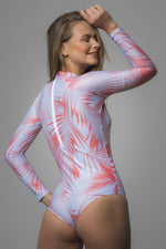 Pink Printed Surf Collection One Piece
