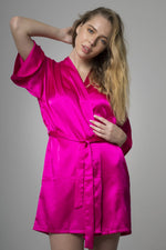Pink Bridesmaid satin night robe