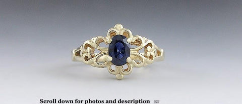 Beautiful 14k Yellow Gold & .72ct Sapphire Ring