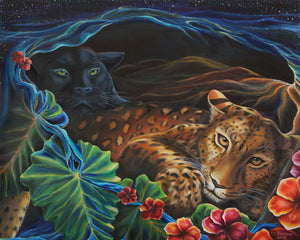 The Lovers: Leopard and Jaguar (Archival Paper:Matte)