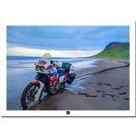 Poster Islande: Africa Twin plage