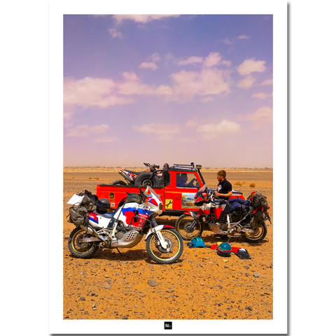 Poster Maroc: Stuck in the desert