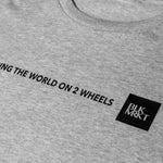 T-Shirt - Exploring The World - Gris