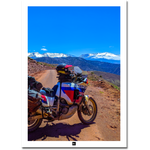 Poster Maroc: Africa Twin Montagnes Rouges