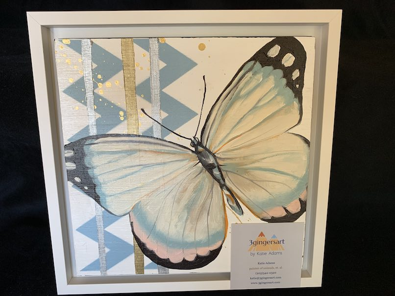 Framed Butterfly Painting