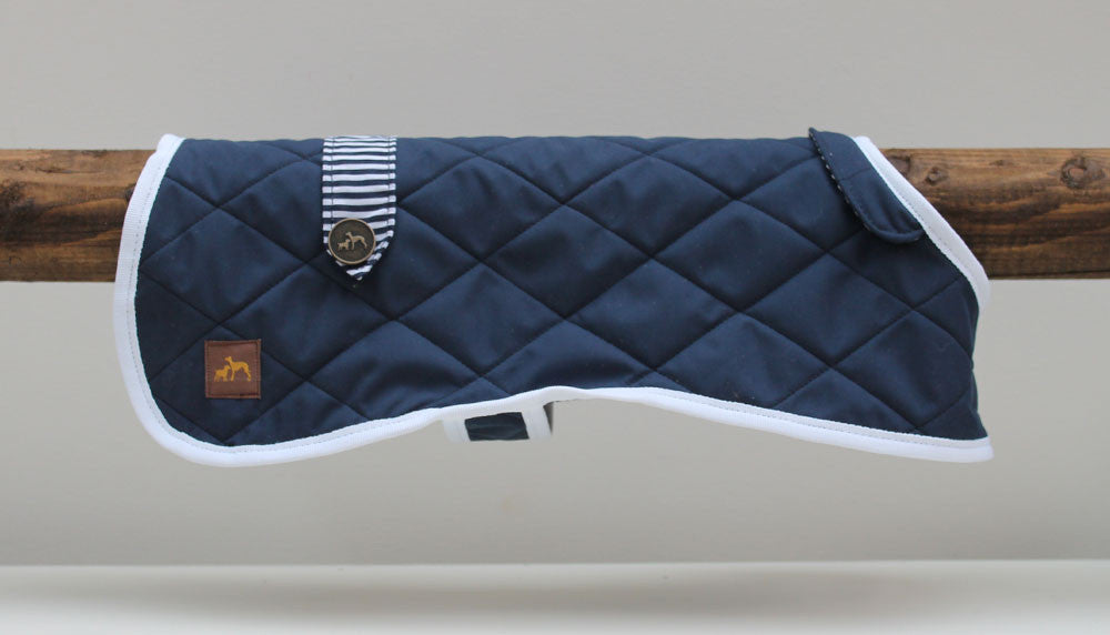 Navy Quilted