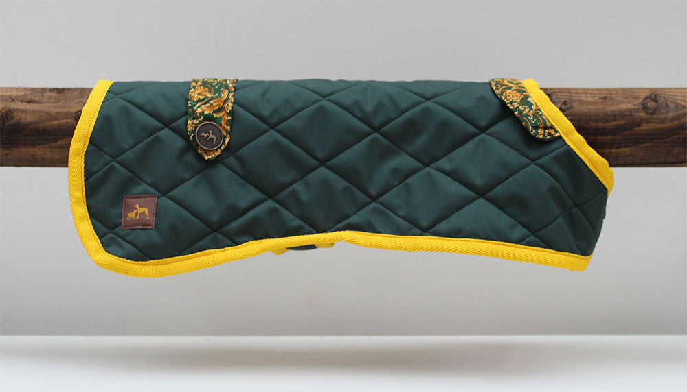 Green Quilted with Gold