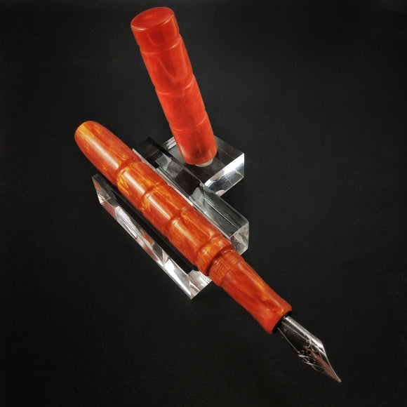 Two Tone Orange Custom Fountain Pen