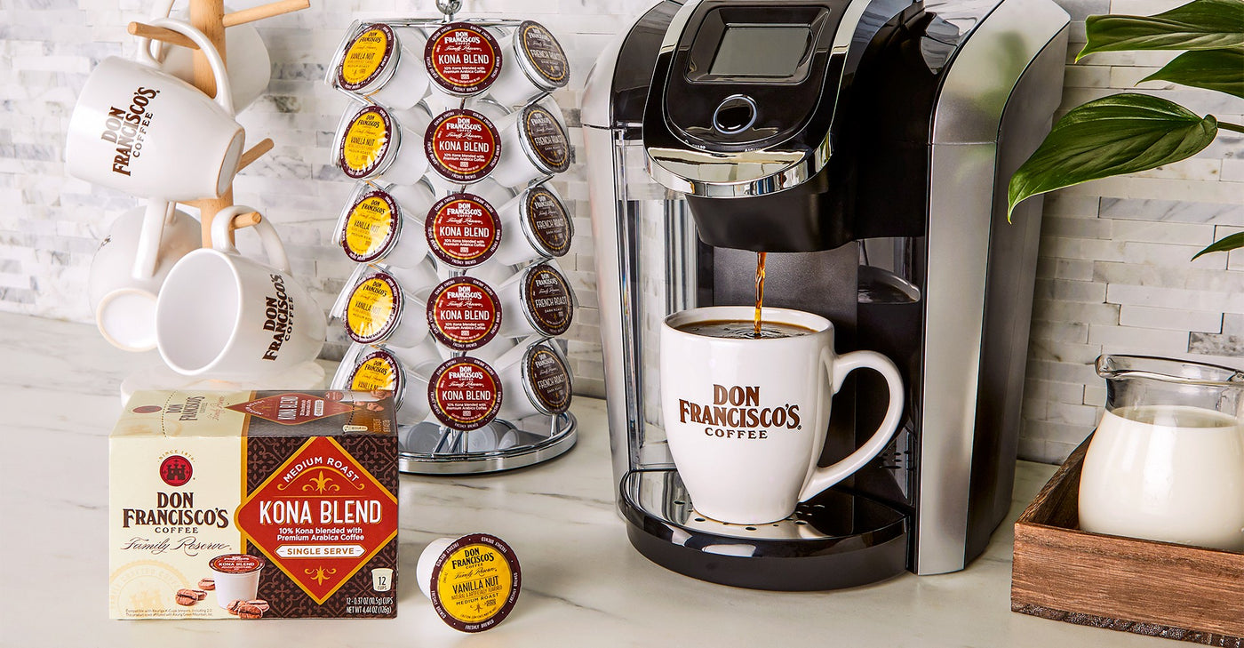 Don Francisco's Coffee Single Serve Cods Pods K Cup Compatible