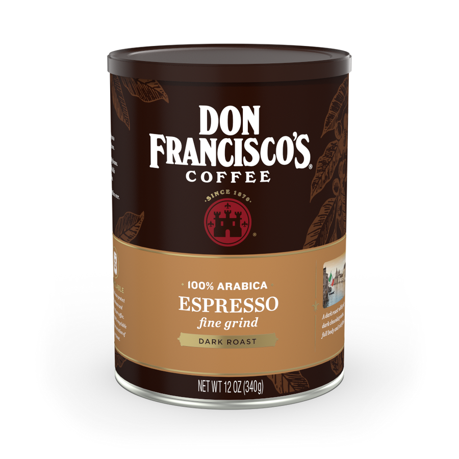 Dark Roast Espresso Can Fine Grind Can