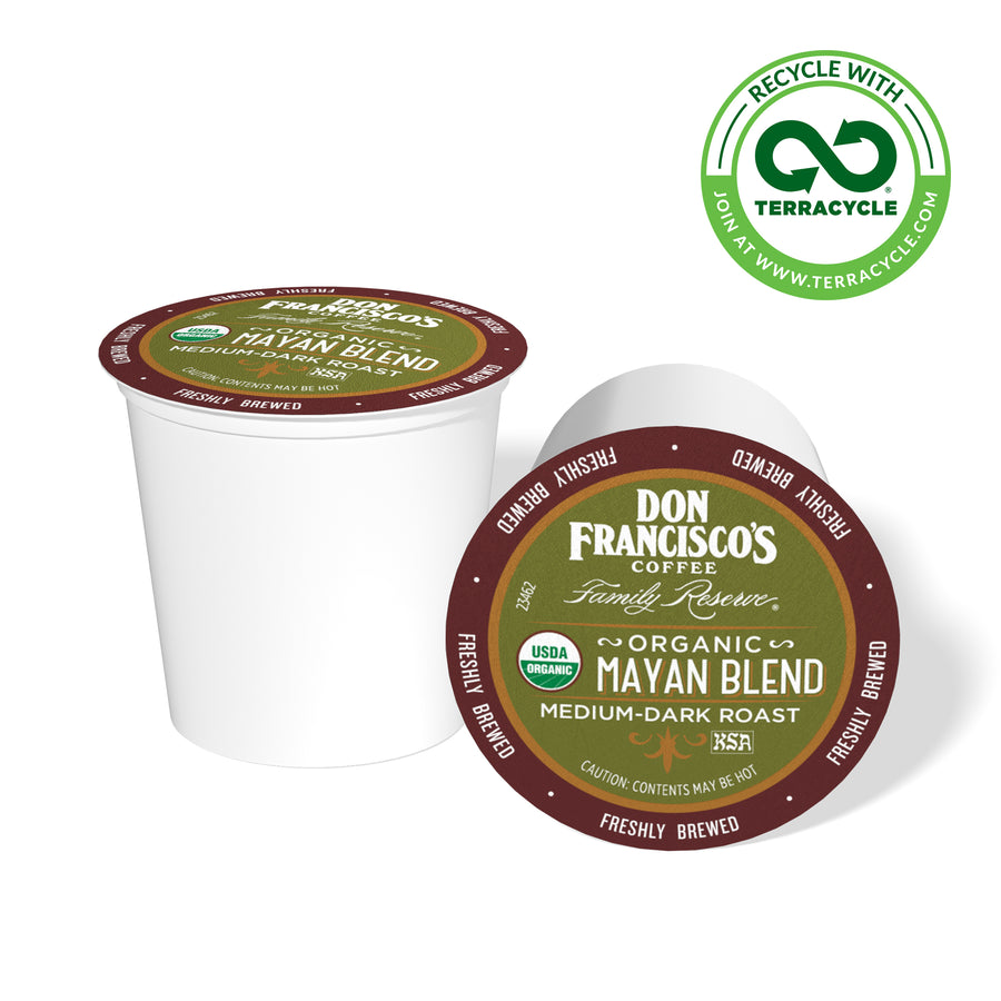 Don Francisco's Coffee Mayan Blend Coffee Pods Recyclable with Terracycle