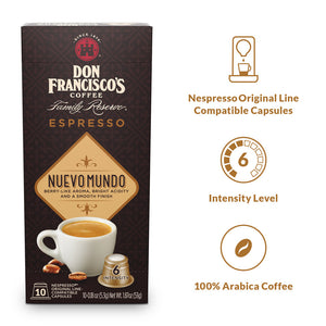 Don Francisco's Coffee Nuevo Mundo Espresso Capsules